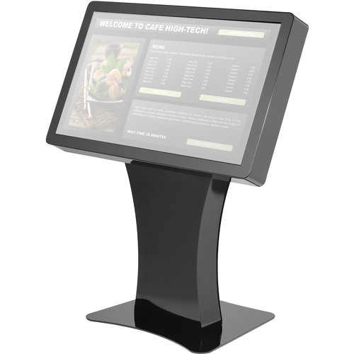 "Peerless-AV Landscape Kiosk Fits 49"" Displays Less Than 3.5""/89mm Deep (Gloss Black)"