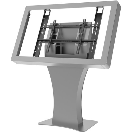 "Peerless-AV Landscape Kiosk Fits 49"" Displays Less Than 3.5""/89mm Deep (Silver)"