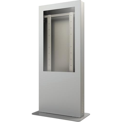 """Peerless-AV KIP546B-S-3 Portrait Back-to-Back Kiosk Enclosure for 46"""" Display (3"""" Depth, Silver)"""