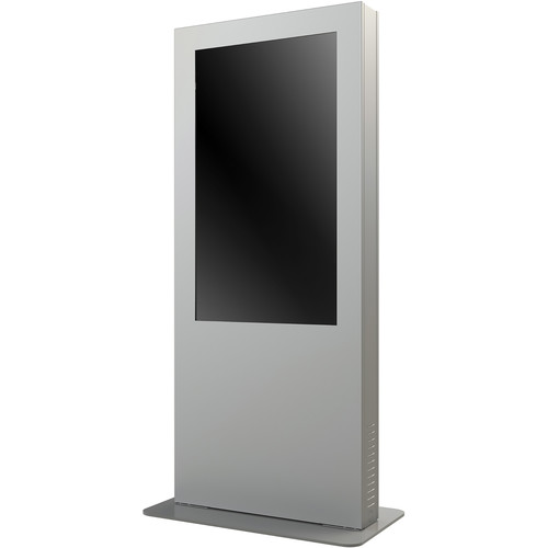 """Peerless-AV KIP546B-S Portrait Back-to-Back Kiosk Enclosure for 46"""" Display (1.83"""" Depth, Silver)"""