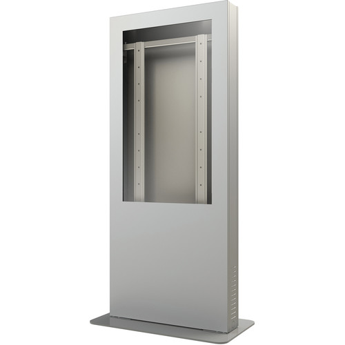 "Peerless-AV KIP555B-S-3 Portrait Back-to-Back Kiosk Enclosure for 55"" Display (3"" Depth, Silver)"