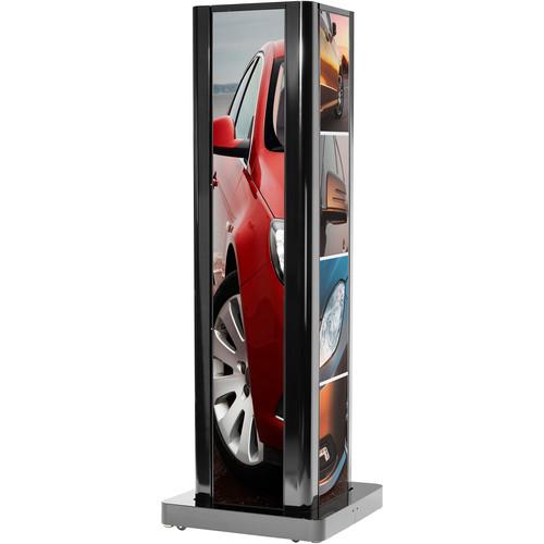 Peerless-AV Four-Sided Portrait Kiosk for LG Ultra-Stretch Signage 86BH5C Display