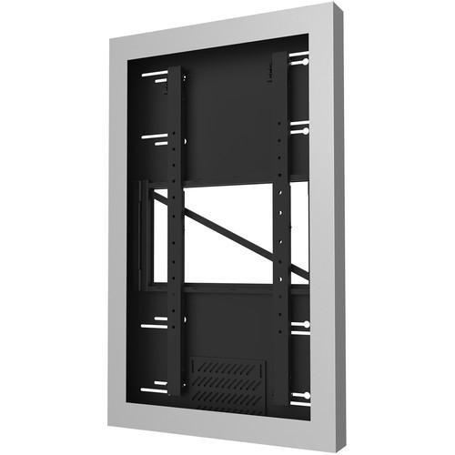 "Peerless-AV KIP655-S On-Wall Kiosk Portrait Enclosure for 55"" Displays (Silver)"