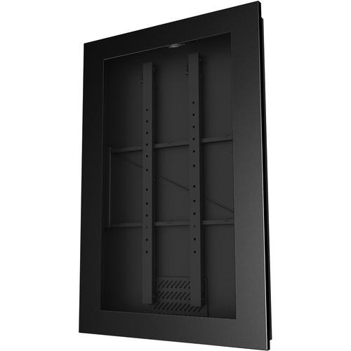 "Peerless-AV KIP755 In-Wall Kiosk Portrait Enclosure for 55"" Displays (Black)"