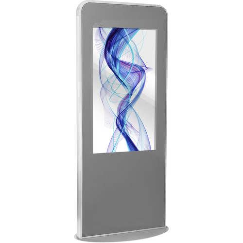 "Peerless-AV Portrait Kiosk for 47"" Display (Silver)"