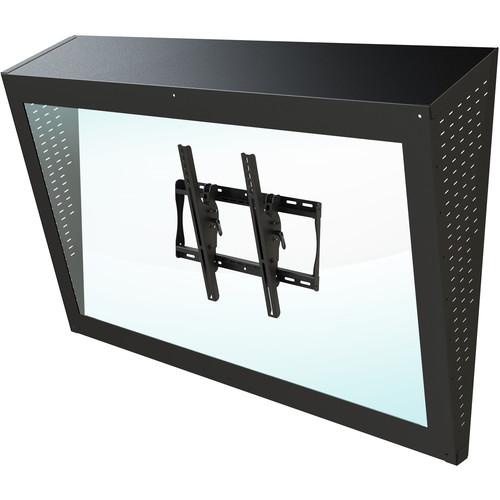 "Peerless-AV Ligature-Resistant Enclosure for 42 & 55"" Displays (Black)"