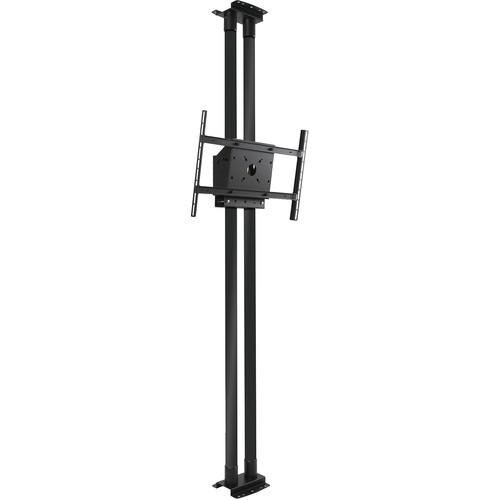 "Peerless-AV MOD-FCS2KIT300-B Modular Series Dual Pole Floor-to-Ceiling Kit for 46 to 90"" Displays (Black Poles)"