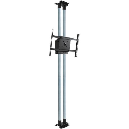 "Peerless-AV MOD-FCS2KIT300 Modular Series Dual Pole Floor-to-Ceiling Kit for 46 to 90"" Displays (Chrome Poles)"