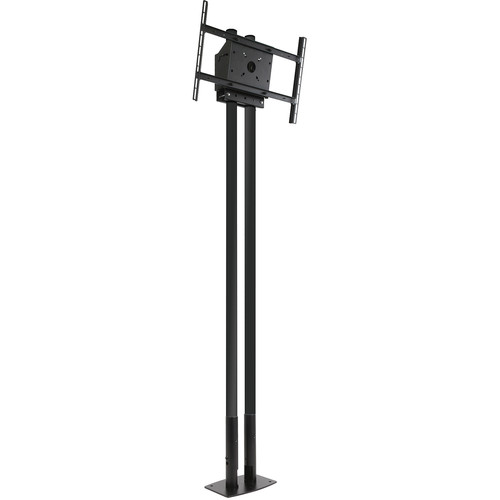 "Peerless-AV MOD-FPP2KIT200-B Modular Series Dual Pole Free Standing Kit for 46 to 90"" Displays (Black Poles)"