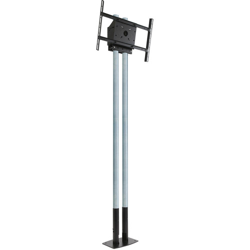 "Peerless-AV MOD-FPP2KIT200 Modular Series Dual Pole Free Standing Kit for 46 to 90"" Displays (Chrome Poles)"