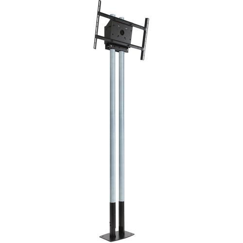 "Peerless-AV MOD-FPP2KIT200 Modular Series Dual Pole Free Standing Kit for 46 to 90"" Displays (Chrome Poles)"