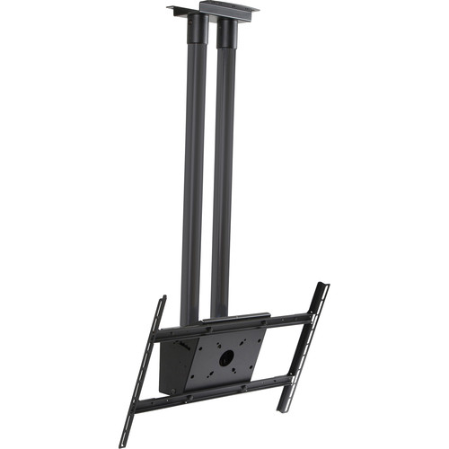 """Peerless-AV Modular Dual Pole Ceiling Mount Kit with Two 4.9' Extension Poles for 46"""" to 90"""" Displays (Black)"""