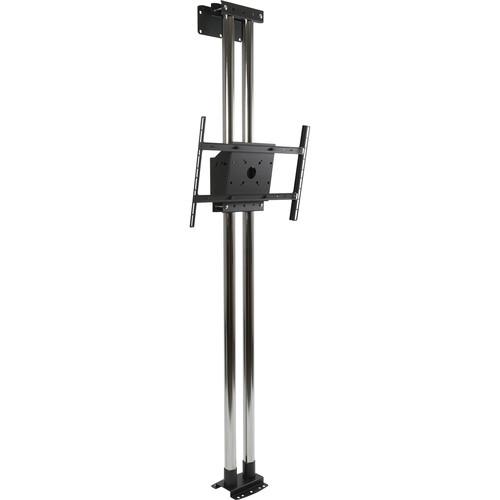 "Peerless-AV MOD-FW2KIT300-B Modular Series Dual Pole Floor-to-Wall Kit for 46 to 90"" Displays (Black Poles)"