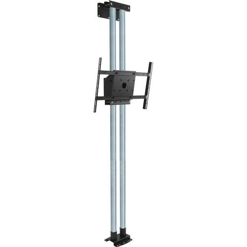 "Peerless-AV MOD-FW2KIT300 Modular Series Dual Pole Floor-to-Wall Kit for 46 to 90"" Displays (Chrome Poles)"