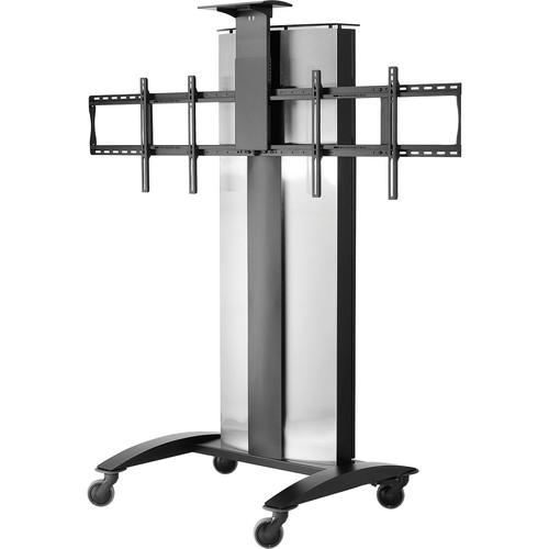 Peerless-AV SR555E SmartMount Flat Panel Video Conferencing TV Cart for 2 TVs (Black)