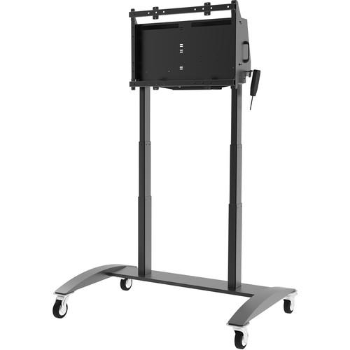 "Peerless-AV SmartMount Motorized Height-Adjustable 42-86"" Flat Panel Cart (Black)"