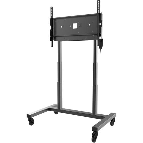 "Peerless-AV SmartMount Motorized Height Adjustable Flat Panel Cart for 42"" to 86"" Interactive Displays"