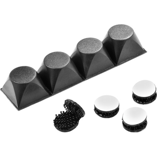 Peerless-AV Ventilation Maximizing Risers with Hook and Loop Accessory Kit (Black)
