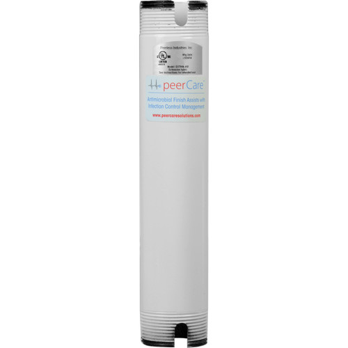 "Peerless-AV EXT006-AW 6"" Antimicrobial Fixed Extension Column (White)"