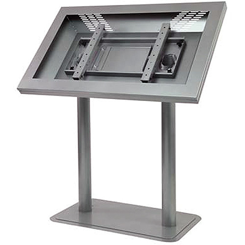 "Peerless-AV Landscape Indoor Digital Signage/Kiosk Enclosure for 40"" LCD Displays (Silver)"