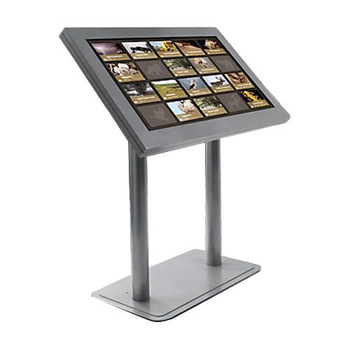 "Peerless-AV peerCare Antimicrobial Indoor Digital Signage Kiosk Enclosure for 46"" Ultra-Thin Displays (White, Landscape)"