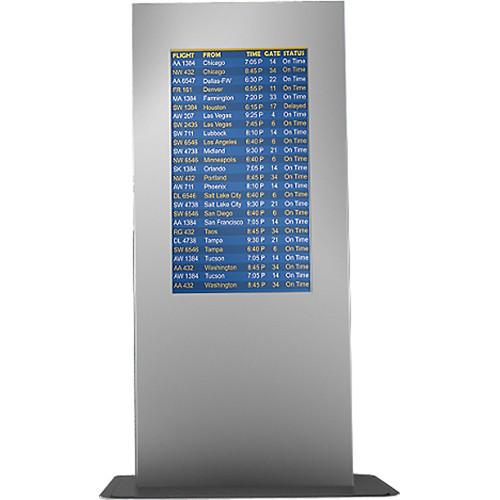 """Peerless-AV Portrait Indoor Kiosk Enclosure for 46"""" LCD Displays (Silver)"""
