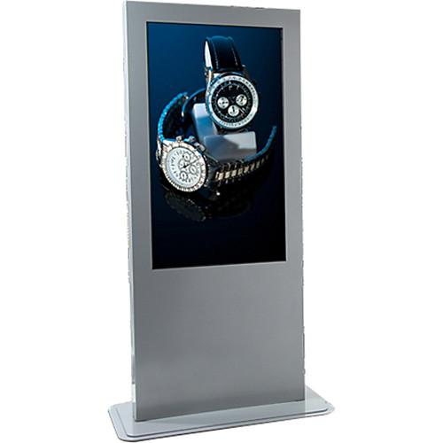 "Peerless-AV Portrait Indoor Digital Signage/Kiosk Enclosure for 55"" LCD Displays (Silver)"