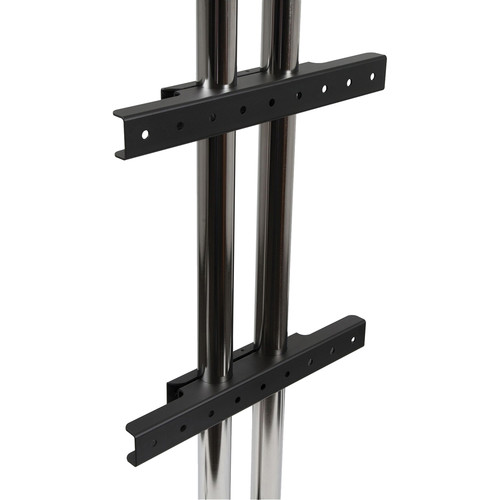 Peerless-AV Modular Dual Pole Fixed Display Mount / Wall Mount Interface (Black)