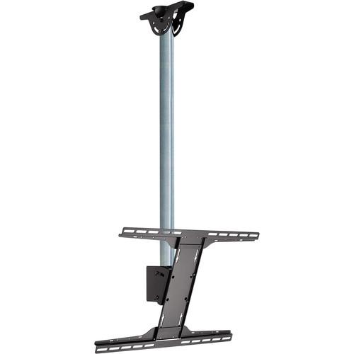 "Peerless-AV Modular Series Ceiling Mount Kit for 39 to 75"" Flat-Panel Displays (3', Black and Chrome)"