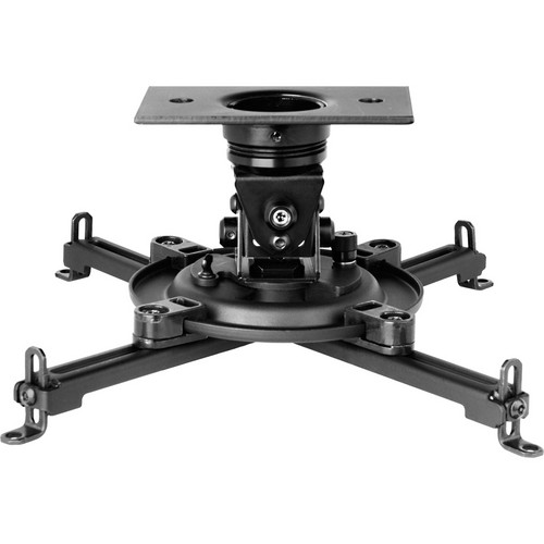 Peerless-AV Arakno Geared Micro Projector Mount with Universal Adapter for Multimedia Projectors (Black)