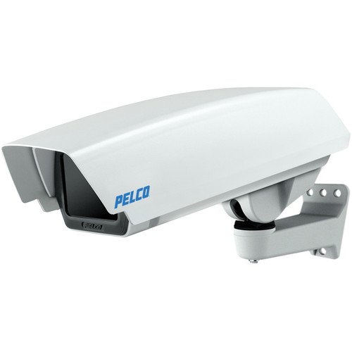 Pelco EH16 Indoor/Outdoor IP-Enabled Enclosure with PoE Input, Feedthrough Wall Mount, and Sun Shroud for Sarix Series Cameras