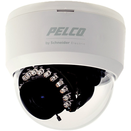 "Pelco FD1IRF44 1/3"" CCD 3.6mm 540 TVL IR Fixed Lens Indoor Dome Camera (NTSC)"