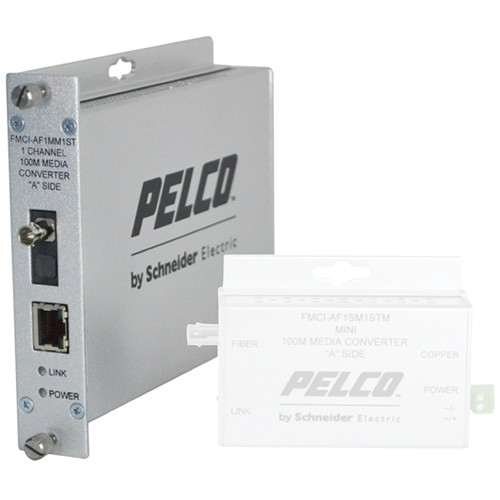 Pelco FMCI Series FMCI-AF1MM1ST 10/100 Mbps Ethernet-Optical Fiber Media Converter with ST Connector