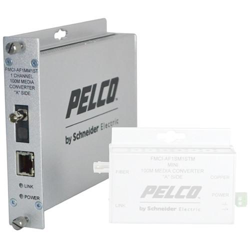 Pelco FMCI Series FMCI-AF1MM1ST 10/100 Mbps Ethernet-Optical Fiber Media Converter with ST Connector