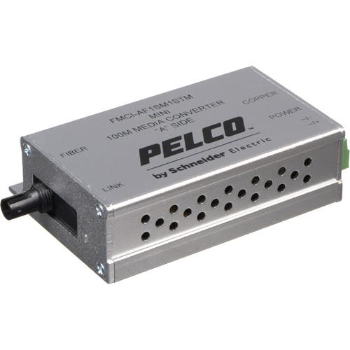 Pelco FMCI Series FMCI-AF1SM1STM 10/100 Mbps Ethernet-Optical Fiber Media Converter with ST Connector (Single-mode)