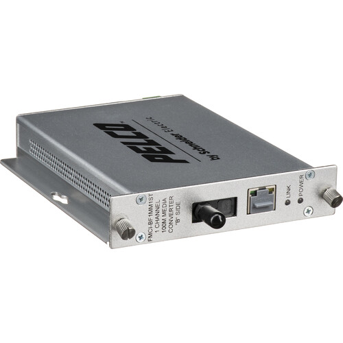 Pelco FMCI Series FMCI-BF1MM1ST 10/100 Mbps Ethernet-Optical Fiber Media Converter with ST Connector