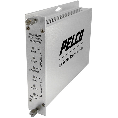 Pelco FRV20S2ST Single-Mode Fiber Receiver with ST Optical Connector
