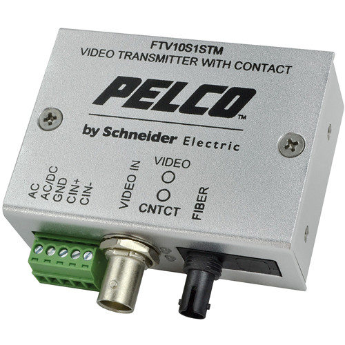 Pelco FTV10S1STM Miniature Fiber Transmitter with ST Connector