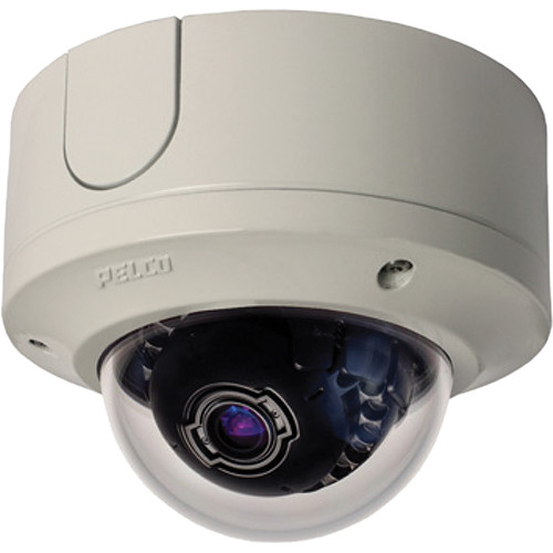 Pelco Sarix IME Series IMES19-1ES 0.5MP Surface Mount Environmental Day/Night Mini Dome IP Camera with 3 to 9mm Lens (Light Gray)