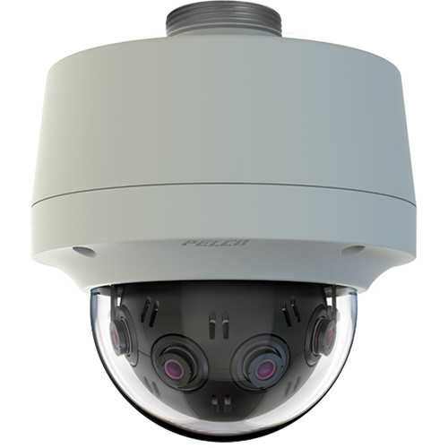 Pelco Optera IMM Series 12MP Outdoor Panoramic Pendant Dome Camera with SureVision 2.0 (Clear Bubble, Gray)