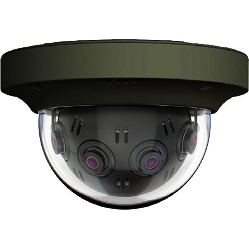 Pelco Optera IMM Series 12MP Panoramic In-Ceiling Dome Camera with SureVision 2.0 (Clear Bubble, Black)