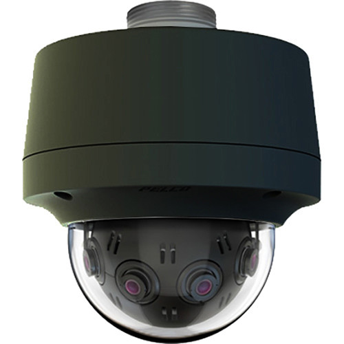 Pelco Optera IMM Series 12MP Panoramic Pendant Dome Camera with SureVision 2.0 (Clear Bubble, Black)