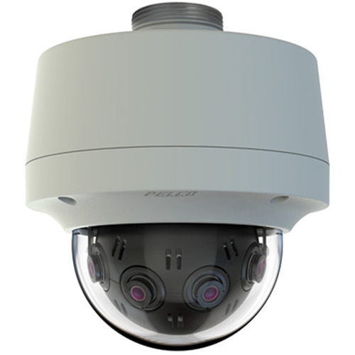 Pelco Optera IMM Series 12MP 360° Outdoor Panoramic Network Dome Camera with Clear Bubble
