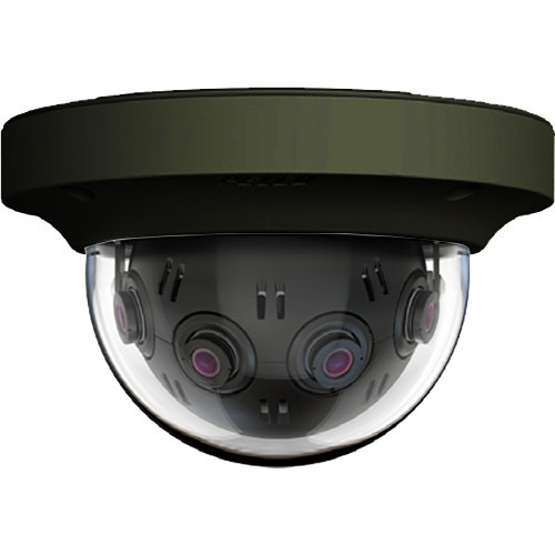 Pelco Optera IMM Series 12MP 360° Panoramic Network In-Ceiling Dome Camera (Made in the USA,Black)