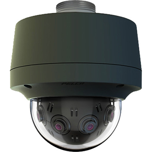 Pelco Optera IMM Series 12MP 360° Panoramic Network Pendant Dome Camera (Made in the USA,Black)