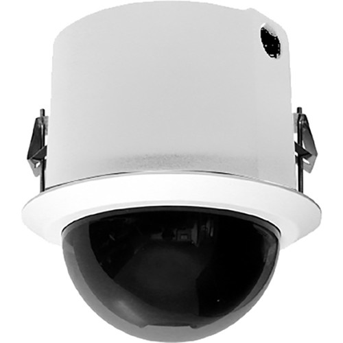 Pelco Spectra Enhanced S6220-FWL1 1080p PTZ Network In-Ceiling Dome Camera (Clear Bubble, White)