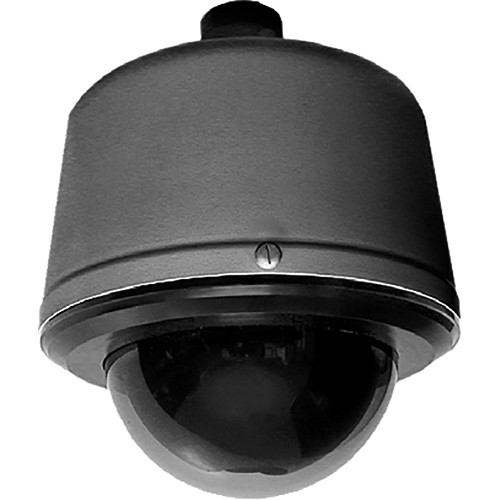 Pelco Spectra Enhanced S6220-PBL1US 1080p PTZ Network Pendant Dome Camera (Clear Bubble, Black, Made in the USA)