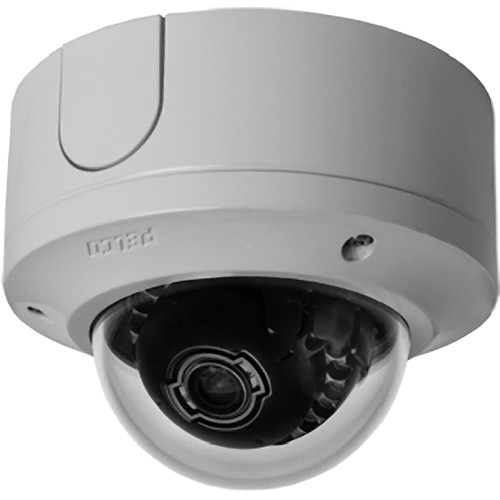 Pelco Sarix IME Series IME119-1VS 1 Mp Day/Night Vandal-Resistant Mini Dome Surface Mount IP Camera with 3 to 9mm Built-In Varifocal Lens (Light Gray)
