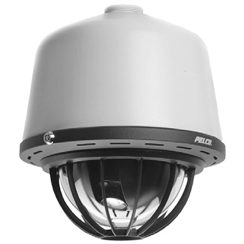 Pelco Spectra IV IP H.264 Day/Night PTZ Environmental Pendant Mount Dome Camera System (Light Gray Housing, Smoked Bubble)