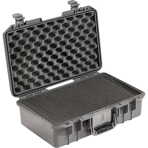 Pelican 1485Air Compact Hand-Carry Case (Silver, Pick-N-Pluck Foam)